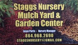 Staggs Nursery & Garden Center has planter box soil mix by the cubic yard (27 cubic feet).