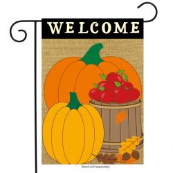 This is Welcome Harvest Burlap Garden Flag #725!
