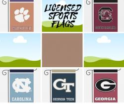 NCAA Licensed Sports Garden & House Flags coming soon!