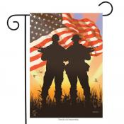 Click to enlarge image American Heros #600 - Garden Flag Patriotic -
