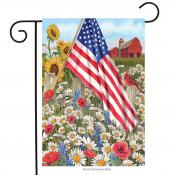 Click to enlarge image America the Beautiful #387 - Garden Flag Patriotic -