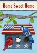 Click to enlarge image Patriotic Living #146 - Garden Flag Patriotic -