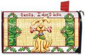 Click to enlarge image Santa I Don't Bite Mailbox Cover #102 - Garden Flag Christmas -