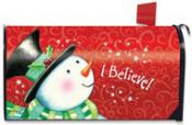 Click to enlarge image I Believe! Mailbox Cover #233 - Garden Flag Christmas -