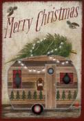 Click to enlarge image Merry Christmas Camper #222 - Garden Flag Christmas -