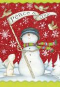Click to enlarge image Peace and Joy #252 - Garden Flag Christmas -