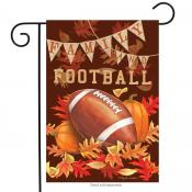 Click to enlarge image Family & Football #729 - Garden Flags Fall -