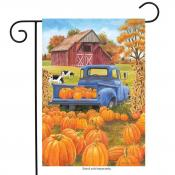 Click to enlarge image Pumpkin Patch Pickup #482 - Garden Flags Fall -
