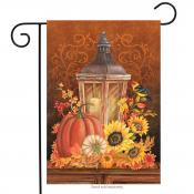 Click to enlarge image Fall Lantern #503 - Garden Flags Fall -
