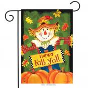 Click to enlarge image Fall Y'all Scarecrow #674 - Garden Flags Fall -