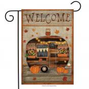 Click to enlarge image Fall Camper #704 - Garden Flags Fall -